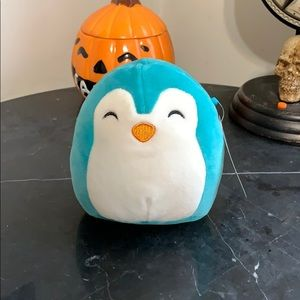 Kellytoy 5 inch Tanner teal penguin squishmallow
